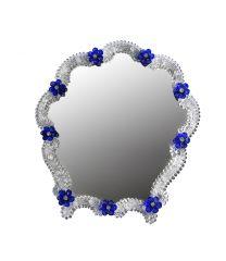 Specchio da tavolo fiordaliso blu
