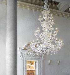 Lampadario Coccole XL biancolatte cristallo