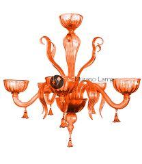 Lampadario Colombina arancione