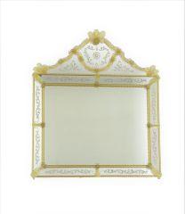 Specchio in Vetro di Murano Cristallo oro 24k