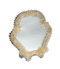 Specchio da tavolo Fiorello oro