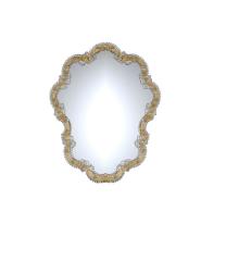 Specchio in Vetro di Murano Gondola oro