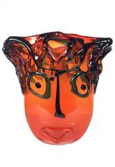 Vase aus Murano Picasso Arancione
