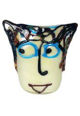 Vase aus Murano Glas Picasso Argento