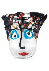 Vase aus Murano Glas Picasso Trasparente