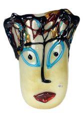 Vase aus Murano Glas Picasso Smile