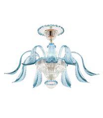 Plafoniera Acquatico Foglie azzurro