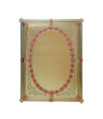 Specchio in Vetro di Murano San Giorgio rosa
