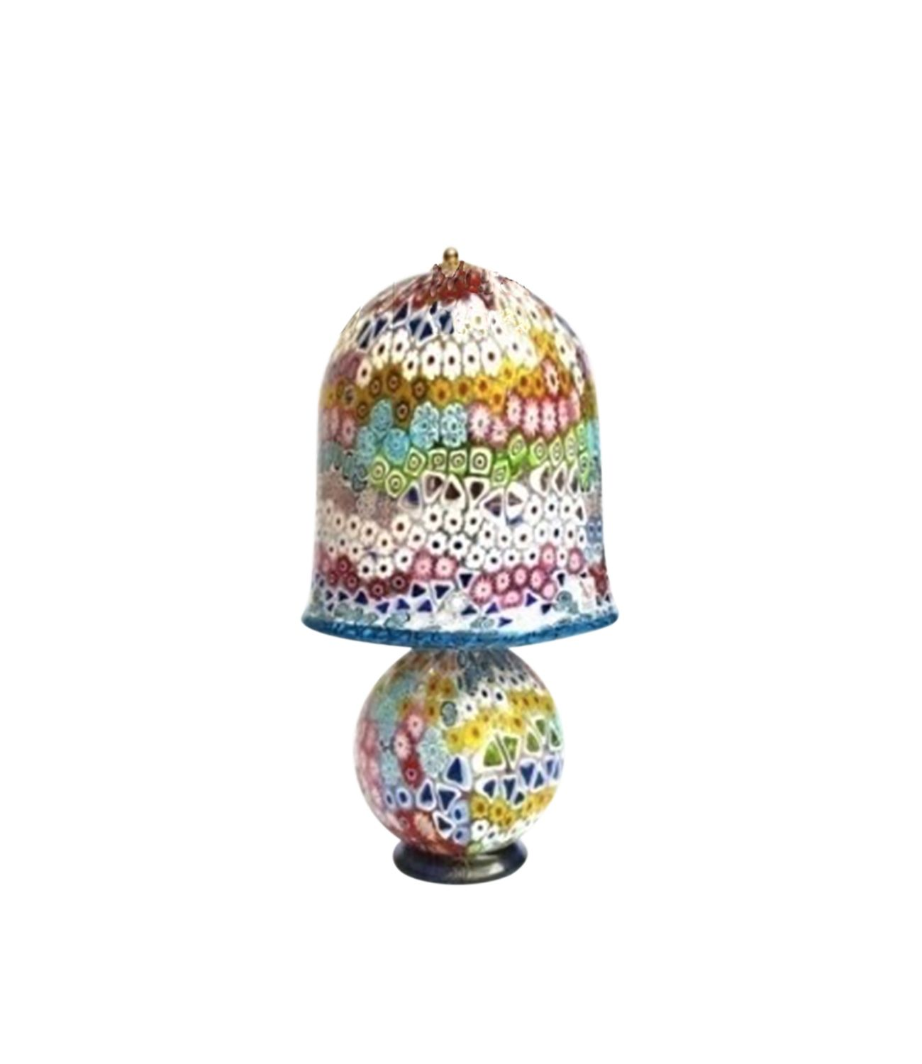 Murano Glass Table Lamp Millefiori 2 Muranolampstore