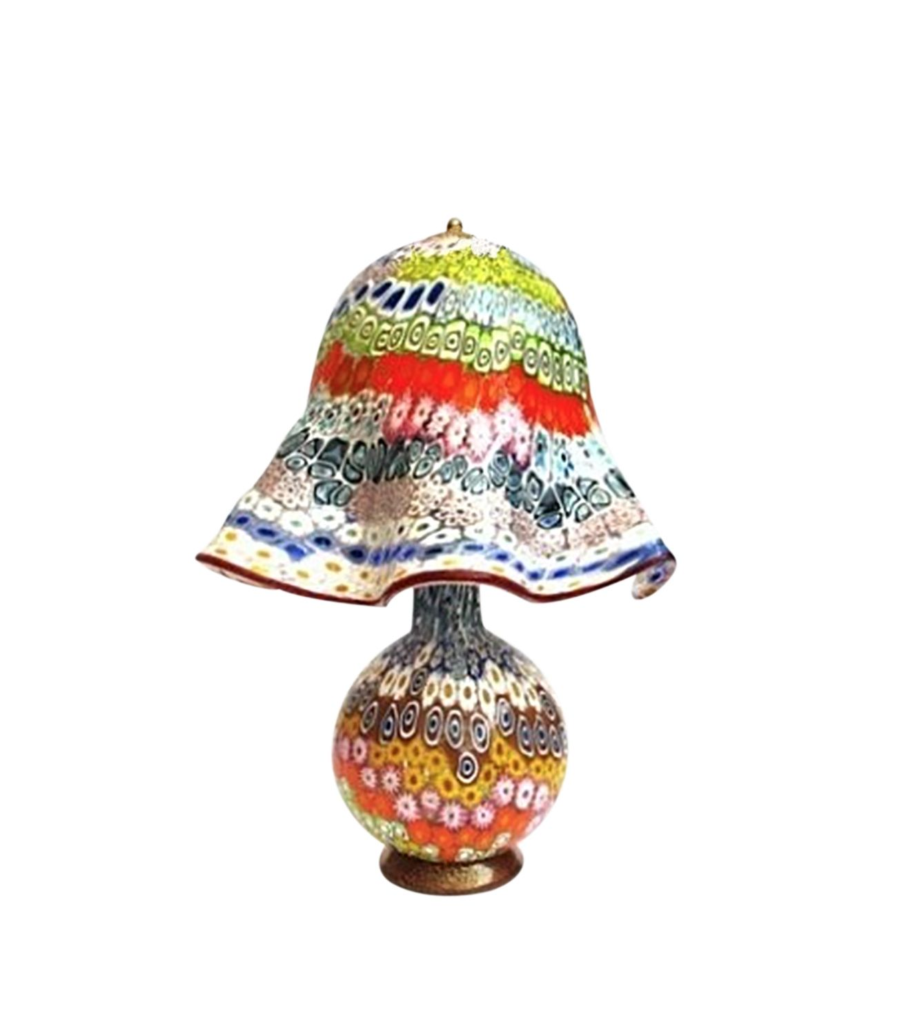 Murano Glass Table Lamp Millefiori Muranolampstore