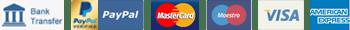 Accept Payment, Metodi di pagamento accettati