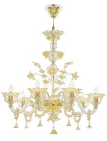 Lustres classiques en verre de Murano
