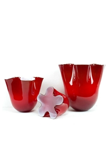 Objects: glasses, vases, sculptures, murano glass masks